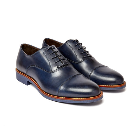 Cap Toe Oxford II // Navy