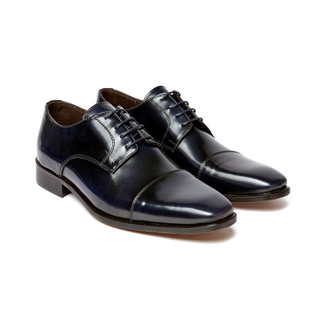 Cap Toe Derby I // Navy (Euro: 40)
