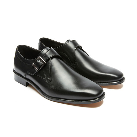 Zion Plain Monk Strap // Black (Euro: 40)