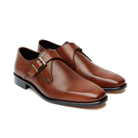 Darnell Plain Monk Strap // Brown (Euro: 40)