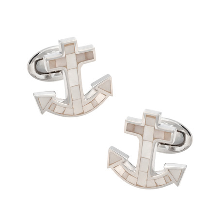 Mother Of Pearl Anchor Cufflinks