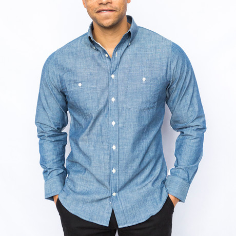 Elbow Patch Shirt // Chambray