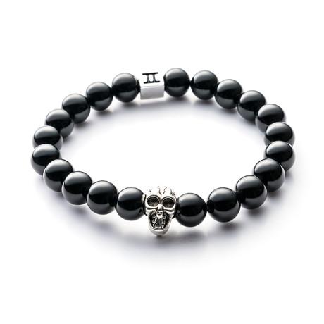 Classic Collection Bracelet // Black + Skull // 8mm