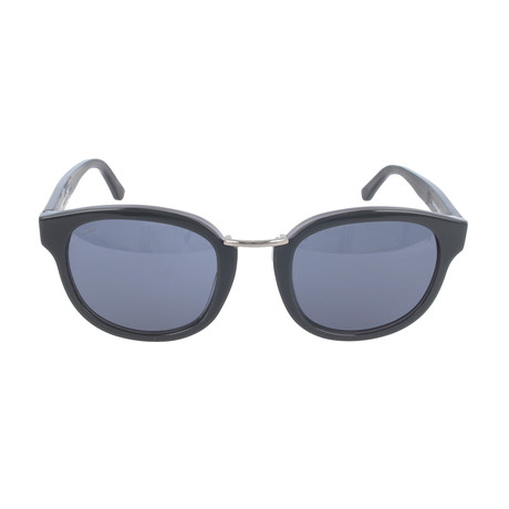 Petal Round Acetate Sunglass // Black