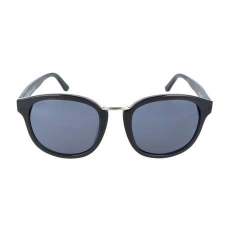 Parker Wide-Eye Rounded Sunglass // Black