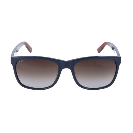 Revere Wide Eye Sunglass // Navy + Indigo + Red