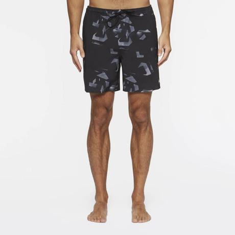 Desmond Pool Shorts // Black Night (S)