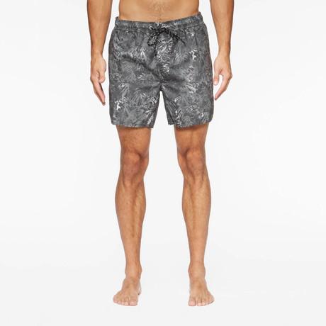 Belmont Pool Shorts // Black Palms (S)
