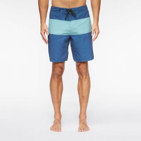 Spectrum Pool Shorts // True Blue +  Sea Mist (S)