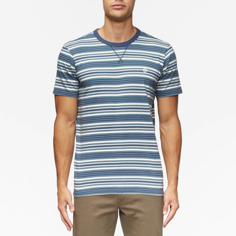 Porto Short Sleeve Shirt // Ink Blue Stripe (S)