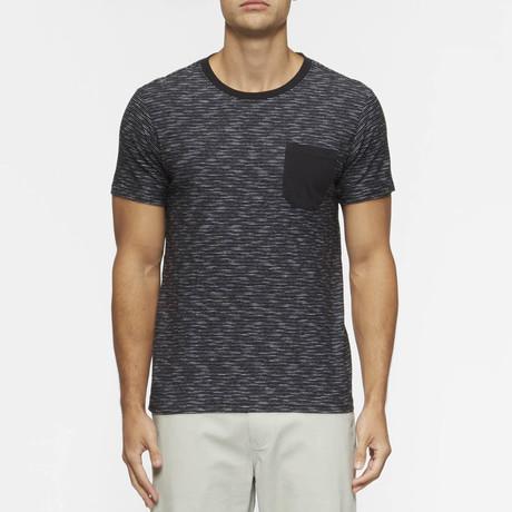 Redondo Short Sleeve Shirt // Black +  White Stripe (S)