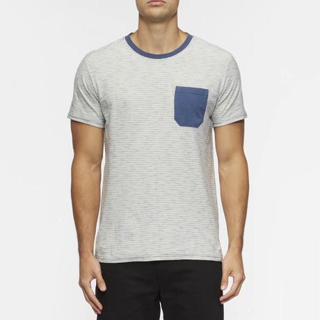 Redondo Short Sleeve Shirt // Natural +  True Blue Stripe (S)