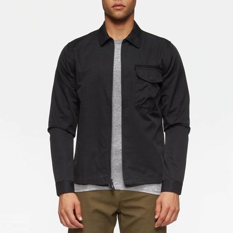 Hale Long Sleeve Overshirt // Black (S)