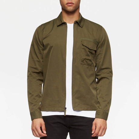 Hale Long Sleeve Overshirt // Fatigue Green (S)