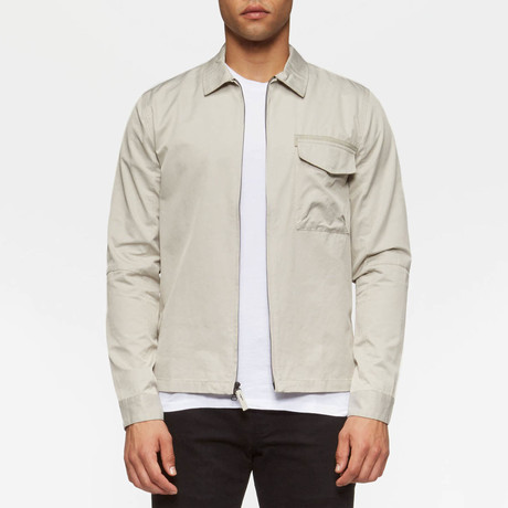 Hale Long Sleeve Overshirt // Willow Grey (S)