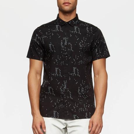 Bowery Short Sleeve Button Down Shirt // Black Camo (S)