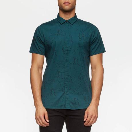 Bowery Short Sleeve Button Down Shirt // Ocean Current Camo (S)