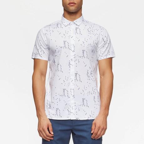Bowery Short Sleeve Button Down Shirt // White Camo (S)