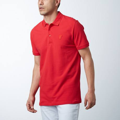 Small Logo Polo // Red (S)