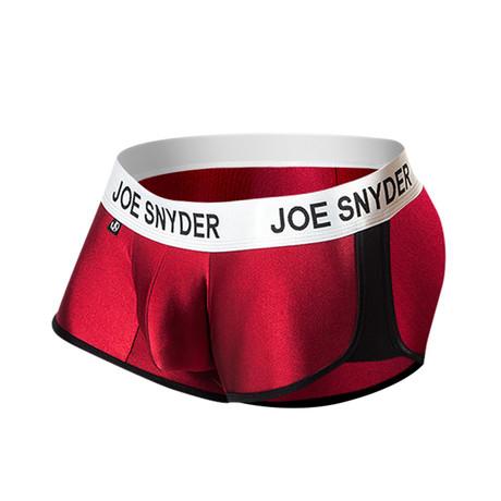 Joe Snyder Activewear Boxer // Wine (S)