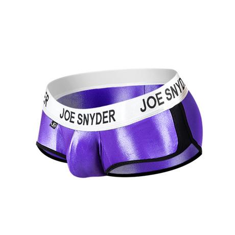 Joe Snyder Activewear Mini Shorty // Purple (S)
