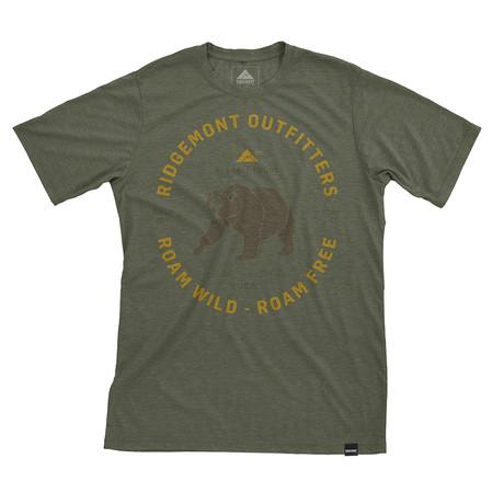 Roam Wild T-Shirt // Olive Heather