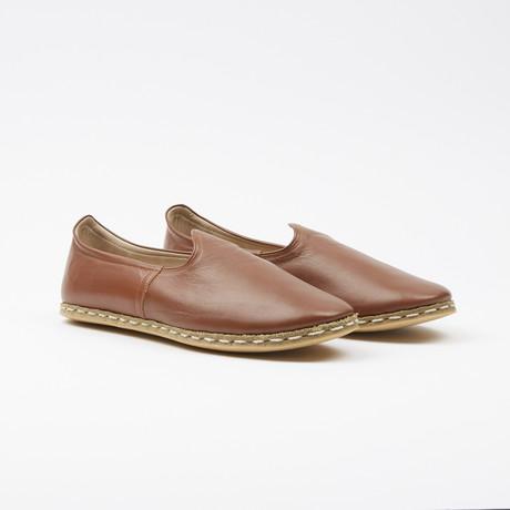 Classic Leather Espadrilles // Cognac Brown (US: 7.5)