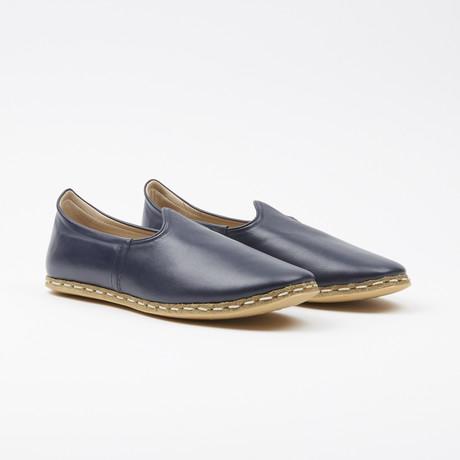 Classic Leather Espadrilles // Navy Blue (US: 7.5)