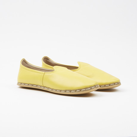 Classic Leather Espadrilles // Taxi Yellow (US: 7.5)