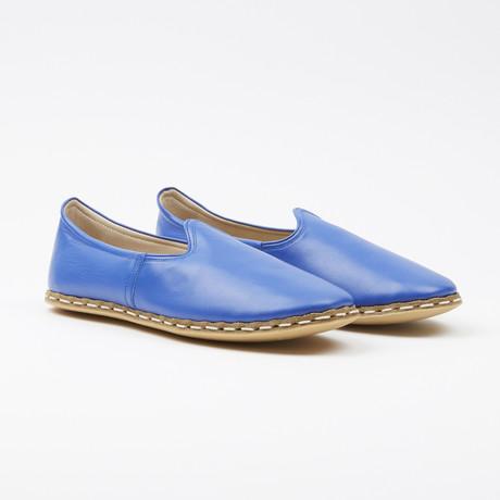 Classic Leather Espadrilles // Vivid Blue (US: 7.5)