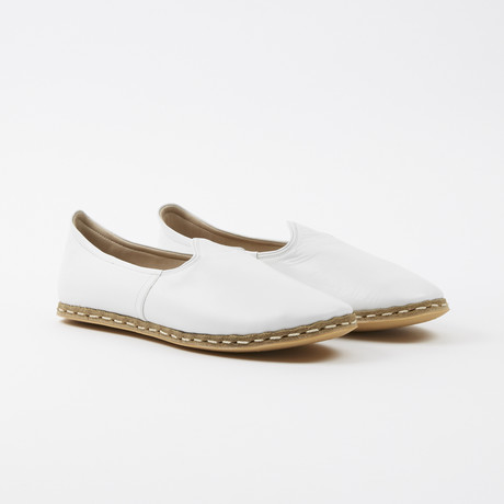 Classic Leather Espadrilles // White (US: 7.5)