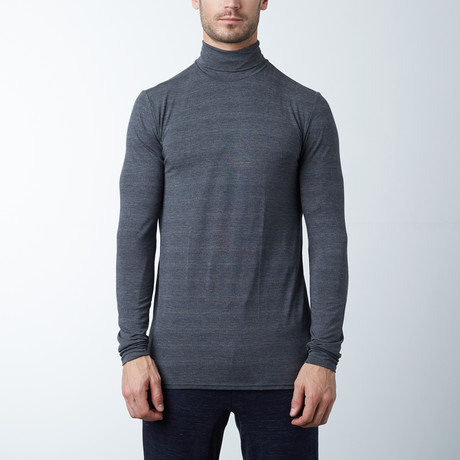 Turtle Neck Dry Edition Tee // Charcoal Mix