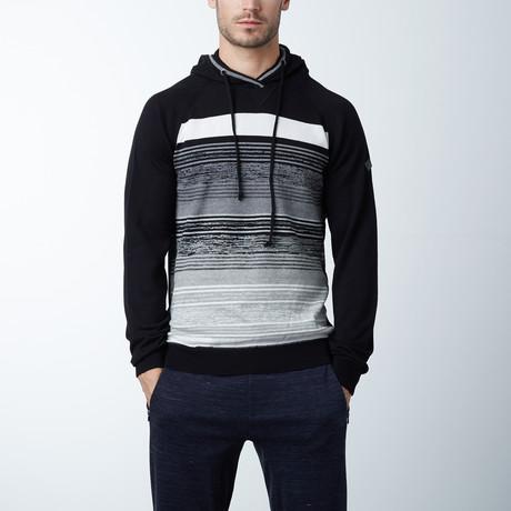 Hooded Fine Gauge Stripe Sweater // Eggshell