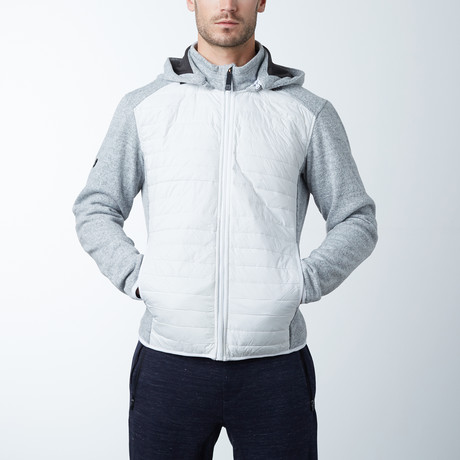 Knitted Textured Ultralight Jacket // White
