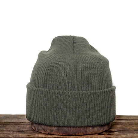 100% Wool Watchcap // Olive // Large