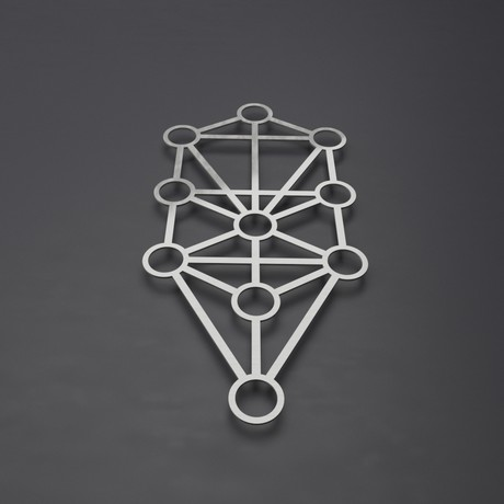 "Kabbalah Tree of Life 3D Metal Wall Art (24""W x 12""H x 0.25""D)"