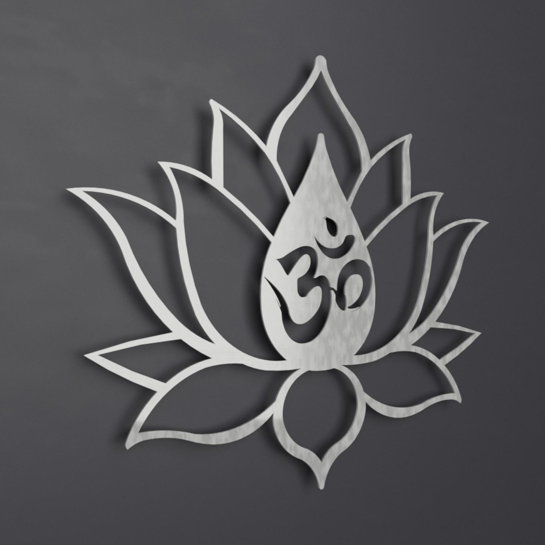 Om symbol lotus flower 3d metal wall art 36w x 31h x 025d om symbol lotus flower 3d metal wall art 36w x 31h mightylinksfo