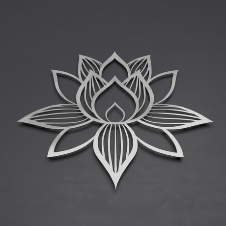 Lotus of Enlightenment II 3D Metal Wall Art