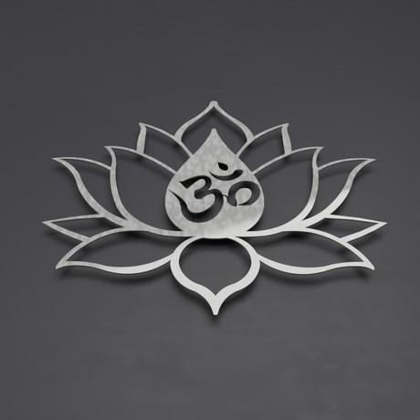 Om symbol lotus flower 3d metal wall art 36w x 31h x 025d 4dd6441424768e49787b902cf90f903d medium om symbol lotus flower mightylinksfo