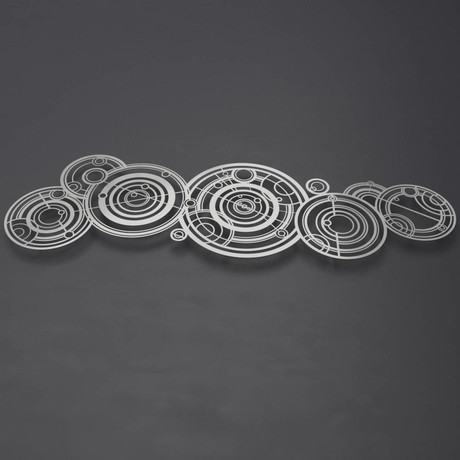 XL Doctor Who Gallifreyan 3D Metal Wall Art Sculpture