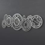 XL Doctor Who Gallifreyan 3D Metal Wall Art Sculpture