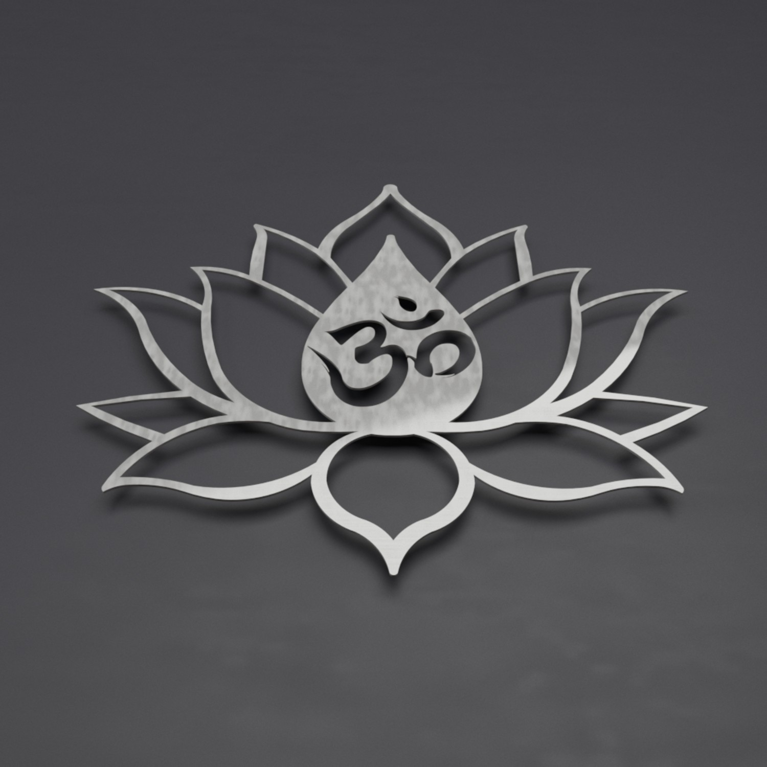 Xl Om Symbol Lotus Flower 3d Metal Wall Art Arte And Metal Touch