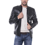 Flagstick Leather Jacket // Black (L)