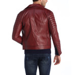 Flagstick Leather Jacket // Red (L)