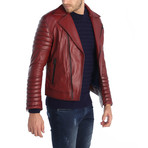 Flagstick Leather Jacket // Red (S)