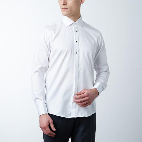 Removeable Buttoned Tuxedo Shirt // White