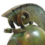 Syracusean Full Size Helmet // Twin Snakes (Without Stand)