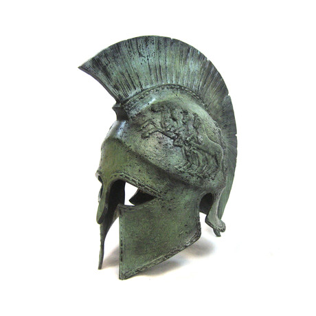 Spartan Full Size Helmet (Includes Marble Helmet Stand)