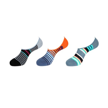 No Show Socks // Simple Stripes // 3-Pack