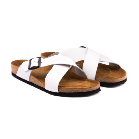 Cross Sandal // White (Euro: 40)